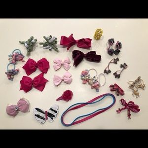 Lot of Girls Hair Accessories Gymboree